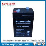 batterie acide de la batterie scellée par 4.5ah AGM de 10hr 6V pour le système d'UPS
