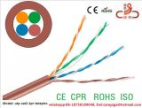 Ce RoHS2.0 del CPR del cable de LAN de Cat5e UTP Cat5e