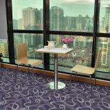 Restaurante de comida rápida mesa y silla de acero inoxidable con fondo redondo