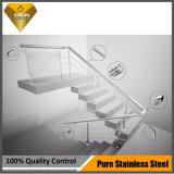 Barandilla de cristal Jbd-8016 de la escalera del acero inoxidable