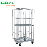 Steel Roll Container Cage Trolley Foldable와 Nestable