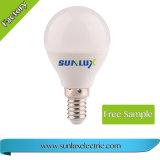 Bulbo de Sunlux de alumínio e do plástico 5W 110V-240V 3000K-6500K 4W do diodo emissor de luz