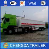 3 de los árboles del API de la válvula 45000liters 5 del compartimiento del combustible del petrolero del tanque acoplado semi