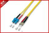 SC 2.0mm к шнурам заплаты двухшпиндельного однорежимного волокна SC оптически