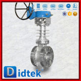 Didtekの三重の風変りなギヤによって作動させる高温蝶弁