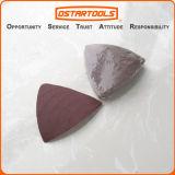 Hojas de las pistas del papel de lija del gancho de leva que enarenan y del triángulo del bucle