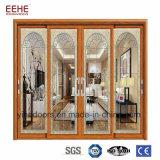 Las puertas deslizantes de aluminio con las persianas incorporadas para privado espacian