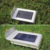 16のLEDの健全な動きセンサー太陽ライト庭の裏庭のための無線防水外部の太陽機密保護の壁の台紙ライト