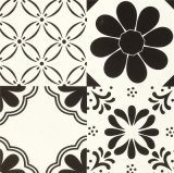 300*300mmの白黒功妙な陶磁器の装飾のタイル