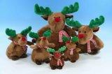 De pluche vulde Dierlijk Stuk speelgoed voor Kerstmis met Hoed & Sjaal