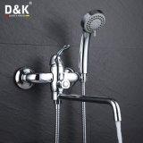 D&Kの熱い販売の高品質の真鍮のクロムによってめっきされる長い口の浴室のたらいの蛇口のミキサー