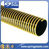Tuyauterie souple de vidange résistante UV colorée de l'eau de boyau d'aspiration de PVC