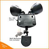 A iluminação externa Cabeça Dupla 22 levou a Luz de Segurança do sensor de movimentos dos raios solares