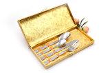 La vaisselle plate à haute teneur 4PCS réglé /Cutlery de peinture d'acier inoxydable a placé
