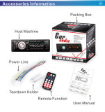 Conductor coche reproductor de MP3 con USB SD MMC TF