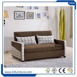 3 places Kuka Canapé-lit en cuir d'inclinaison en rouge