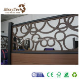 Cerca especial modificada para requisitos particulares estilo moderno del aluminio del diseño WPC