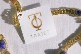 Papel feito sob encomenda Tag impressos do cair da jóia em Guangzhou
