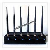 6 fascia GPS & GSM portatili, CDMA, DCS, Phs, 3G Mobile, emittente di disturbo del telefono delle cellule di 4G 3G con il ventilatore