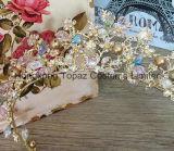 De bruids Juwelen van het Haar van de Toebehoren van het Haar van het Huwelijk van de Kroon van de Prinses van de Tiara van het Kristal van de Juwelen van het Haar van de Bruid van de Bloem van de Kroon (EC15)