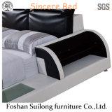 실제적인 가죽 현대 침대 3313