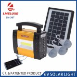 6V 휴대용 재충전용 태양 야영 빛