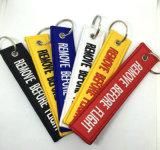 Kundenspezifischer Firmenzeichen-Wolle-Filz-Gewebe Keychain Schlüsselring