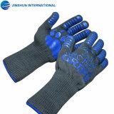 Прочного жаропрочные перчатки гриля для барбекю для приготовления барбекю вещевым ящиком предплечье защиты камин перчатки кухни кухонные рукавицы