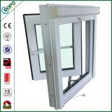 二重ガラスPVC開き窓のWindowsのプラスチック建築材料ジョージ王朝棒