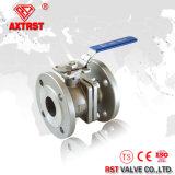 CF8m DIN 2PC Válvula de bola de brida de acero inoxidable con ISO5211