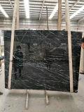 タイルのためのイタリアの黒い大理石の金静脈の大理石、フロアーリング、カウンタートップ