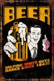 La publicité de plein air de la bière Vintage signe d'étain