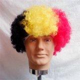 Parrucche e Hairpiece su ordinazione dei capelli del ventilatore di sport della squadra di colore della bandiera nazionale di mondo della tazza di calcio caldo pazzesco di vendita