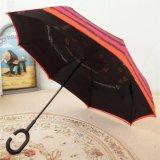 Зонтик автомобилей ручки формы c ручной обратный прямой (YS-S01001R)