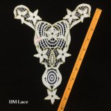 ворот гипюра 37*50cm с картиной снежинки, античным шнурком венчания, шнурком ателье мод с картиной звезды Hme938