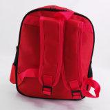 Morral rojo de encargo de los cabritos del bolso de escuela del niño de la manera de la impresión 600d