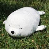 Palier de caresse personnalisé de peluche animale mignonne blanche
