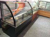 2 선반 두 배 구부려진 유리제 전시 케이크 냉장고 진열장