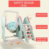 Le jouet en plastique de meubles de jardin d'enfants pour le jeu en plastique de glissière de gosses place le jouet de jeu