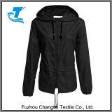 Быстро-Засыхание женщин Передн-Промелькивает Packable Hoodie Hiking куртка дождя