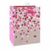 Padrão de pontos Polka loja de roupas da moda de saco de papel