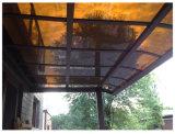 Garagem/Gazebo ao ar livre Rainproof do carro do estacionamento do pátio do pára-sol do telhado do balcão do Carport da liga de alumínio