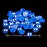 A pérola azul do Ab da safira plástica do ABS das pérolas do círculo inferior de plano do ano novo do presente de Chirstmas para o prego de DIY é projeto da decoração