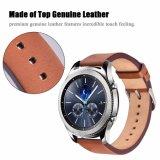 Планка wristwatch неподдельной кожи на граница шестерни S3 Samsung & классика 22mm