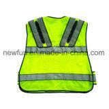 LEIDEN van het LEIDENE Vest van de Veiligheid Weerspiegelend Vest met Koplamp en Zak