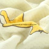 Quilt 100%Cotton feito malha da matéria têxtil para o amarelo do verão