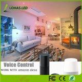 GU10 5W à intensité réglable VOYANT LED RGBW WiFi ampoule de feu intelligente de travailler avec Amazon Alexa/Tuya/Accueil Google