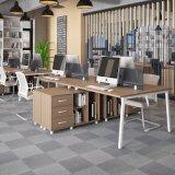형식 4 사람 시트 금속 다리를 가진 똑바른 사무실 분할 워크 스테이션