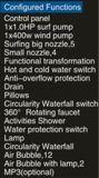 De nieuwe 1700mm Jacuzzi van de Rechthoek met LEIDENE Waterval en het Kussen van de Massage (bij-6010-2)