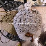 Großhandelsauf lagerform-Strohdrawstring-Rucksack für Frauen der Dame-Grils
